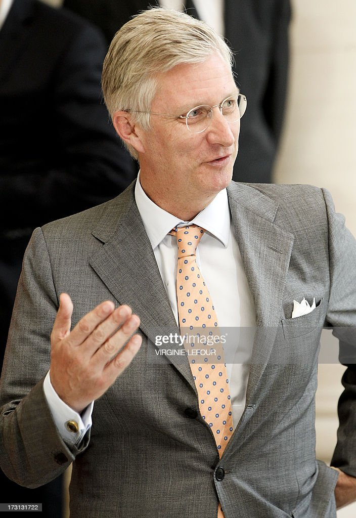 Belgian Crown Prince Philippe attends on July 8, 2013 a reception at the royal castle in Laeken - Laken in Brussels for members of the committee for institutional reforms. Prince Philippe said on July 4 he was 'well aware' of the responsibilities of his new role in light of the announcement that his father Albert II would abdicate in his favor on July 21, Belgium's national holiday.