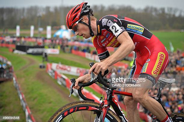 Belgian cyclist Kevin Pauwels competes in the 52nd edition of the Jaarmarktcross in Niel the second stage of the Soudal Classics cyclocross...