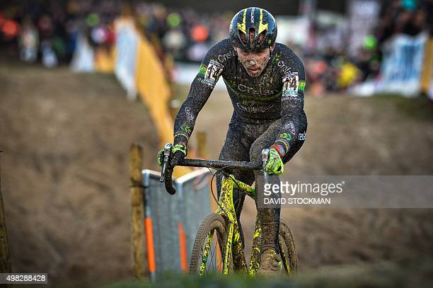 Belgian cyclist Sven Nys competes in the men elite category of the Koksijde cyclocross the third race of the UCI Cyclocross World Cup on November 22...