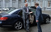 Belgian Deputy Prime Minister and Foreign Minister Didier Reynders arrives to attend the meeting of Party of European Socialists ahead of the...