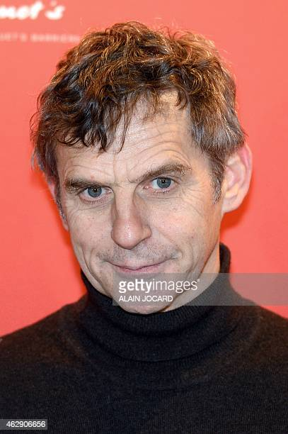 Belgian director Lucas Belvaux nominated for the French cinema Cesar Award for Best Adapted Screenplay for 'Pas son Genre' poses during the 2015...