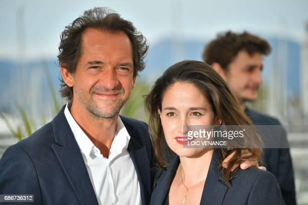 Belgian director Stephane De Groodt and Belgian actress and director Marie Gillain pose on May 22 2017 during a photocall for 'Adami Jeunes Talents'...