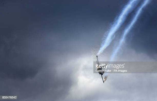 A Belgian F16 performs at the Biggin Hill Festival of Flight