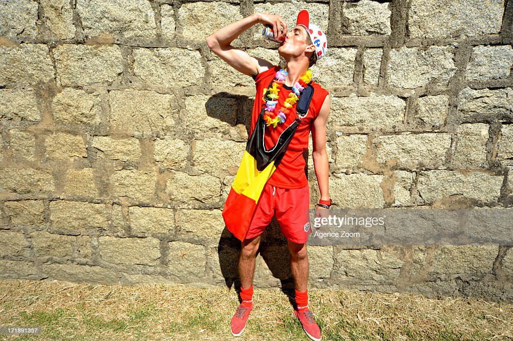Belgian fan during Stage 1 of the Tour de France from Porto-Vecchio to Bastia on June 29, 2013 in Bastia, France..
