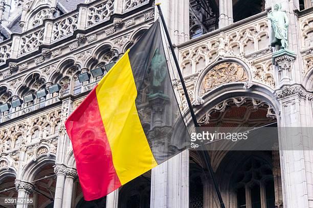 Bandera belga en el restaurante Maison du pasada en Bruselas
