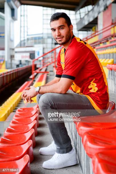 Belgian football club Mechelen new player Serbian Ivan Obradovic poses for the photographer after a press conference of Belgian first division...