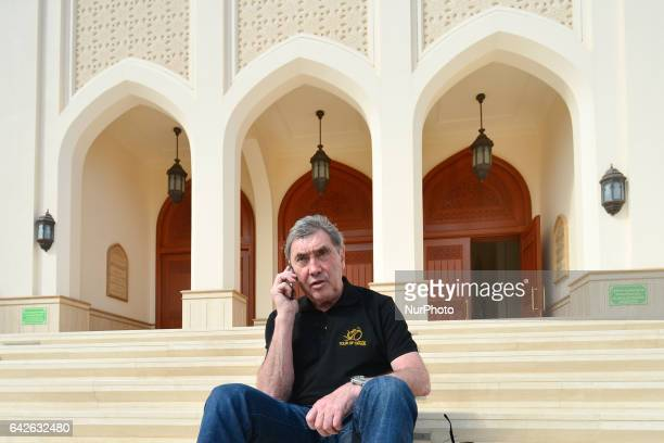 A Belgian former professional road and track bicycle racer Eddy Merckx pictured outside Sultan Qaboos Mosque in Samail ahead of the fifth stage a...