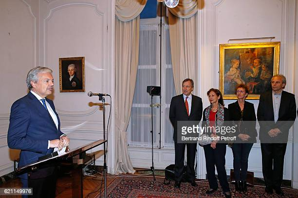 Belgian Minister of Foreign Affairs and Deputy Prime Minister of Belgium Didier Reynders Belgium Ambassador to France Vincent Mertens de Wilmars...