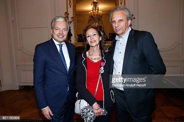 Belgian Minister of Foreign Affairs and Deputy Prime Minister of Belgium Didier Reynders Fanny Rodwell and her husband Managing director of the...