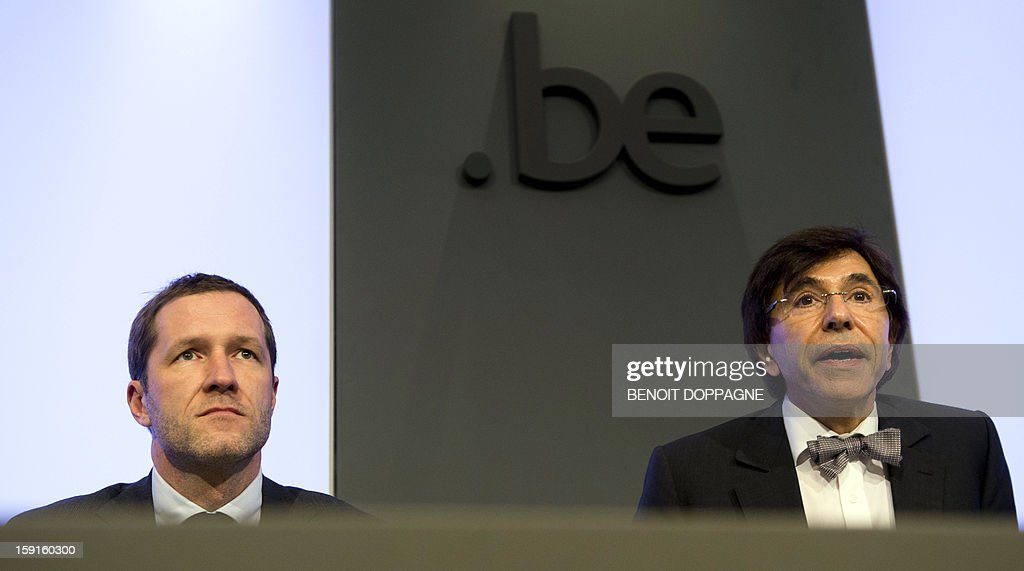 Belgian Minister of Public Enterprises, Science and Development Cooperation Paul Magnette (PS French-speaking Socialists) and Prime Minister Elio Di Rupo (PS French-speaking Socialists) give a press conference after a Kern meeting, a restricted ministers meeting at Wetstraat 16 - Rue de la Loi 16, on the agreement found on the Belgian railways reform (NMBS-SNCB), in Brussels on January 9, 2013. It's the first Kern meeting of the year.
