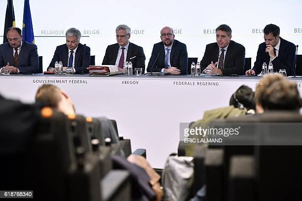 Belgian Minister of SMEs Entrepreneurs Agriculture and Social Integration Willy Borsus Foreign Minister Didier Reynders Minister of Employment...