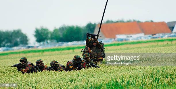 Belgian paracommandos.