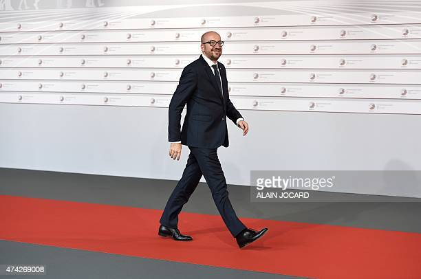 Belgian Prime minister Charles Michel arrives at the House of the Blackhead for an informal dinner at the start of the fourth European Union eastern...