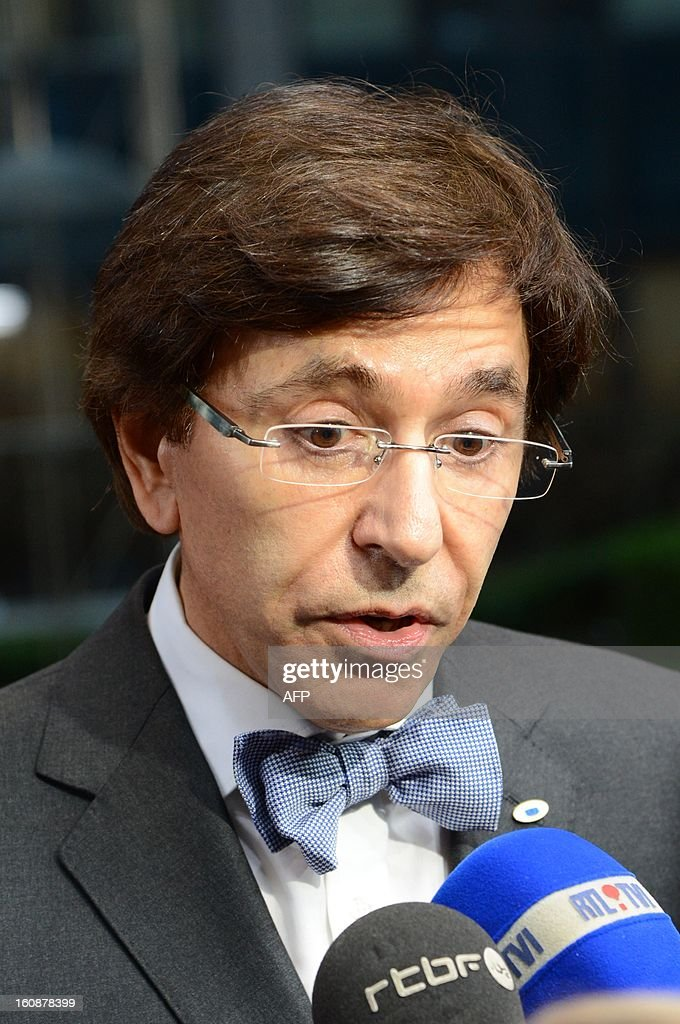 Belgian Prime Minister Elio Di Rupo arrives at the EU Headquarters on February 7, 2013 in Brussels, on the first day of a two-day European Union leaders summit. European Union leaders head into a fresh clash over the EU's budget with the only certainty being that proposals for several years will be cut back. AFP PHOTO / THIERRY CHARLIER