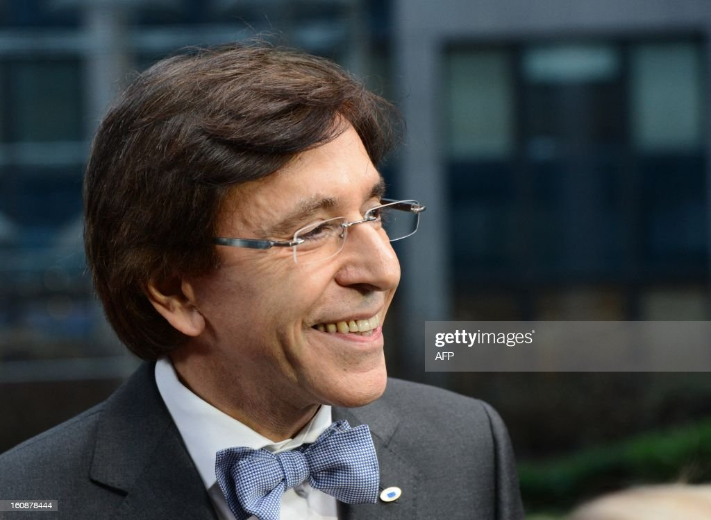 Belgian Prime Minister Elio Di Rupo arrives at the EU Headquarters on February 7, 2013 in Brussels, on the first day of a two-day European Union leaders summit. European Union leaders head into a fresh clash over the EU's budget with the only certainty being that proposals for several years will be cut back.