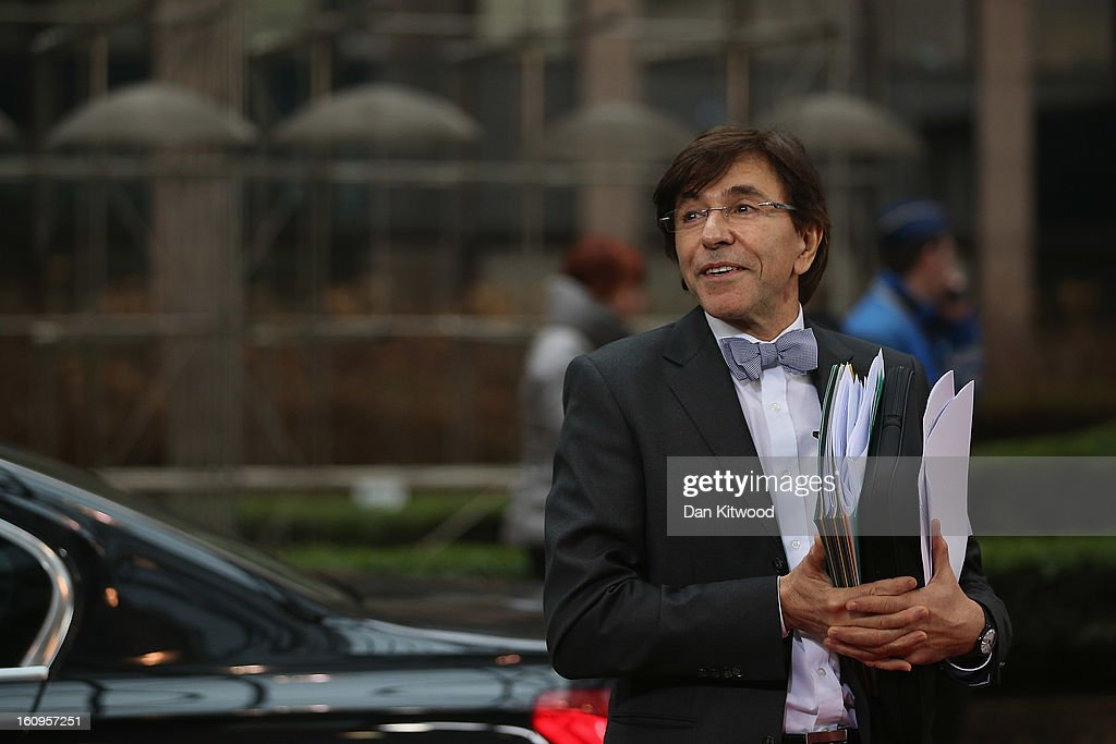 Belgian Prime Minister <a gi-track='captionPersonalityLinkClicked' href=/galleries/search?phrase=Elio+Di+Rupo&family=editorial&specificpeople=743705 ng-click='$event.stopPropagation()'>Elio Di Rupo</a> arrives at the headquarters of the Council of the European Union on February 8, 2013 in Brussels, Belgium. EU leaders have set out the framework for agreeing on a 2014-2020 EU budget during talks that continued through the night at the European Council Meetings in Brussels. The historic deal would see 34.4 billion Euros of EU spending cuts over the next 7 year period.
