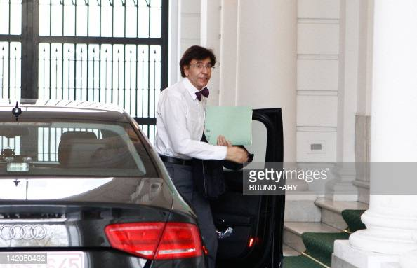 Belgian Prime Minister Elio Di Rupo arrives at the Prime Minister's office for a kern meeting a restricted ministers meeting at the 16 Law Street in...