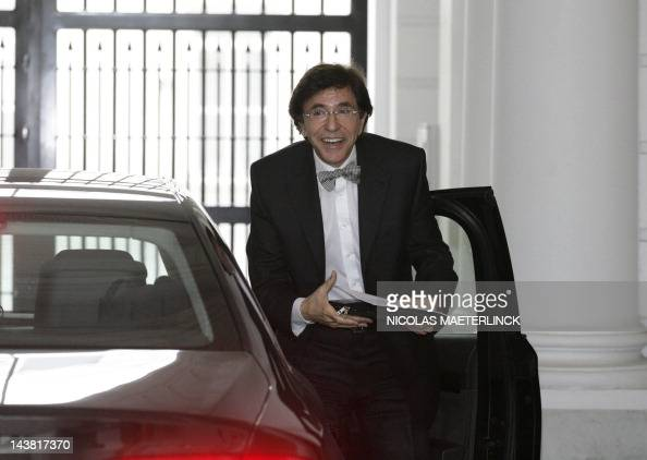Belgian Prime Minister Elio Di Rupo arrives at the Prime Minister's office for a Kern meeting a restricted ministers meeting in Brussels on May 4...