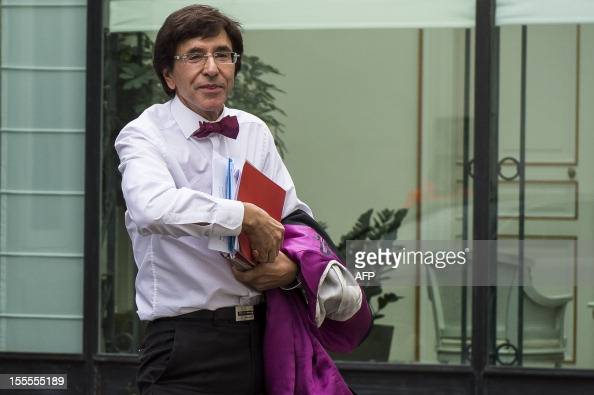 Belgian Prime Minister Elio Di Rupo arrives for a kern meeting a restricted ministers meeting on the budget at his Prime Minister's residence in...