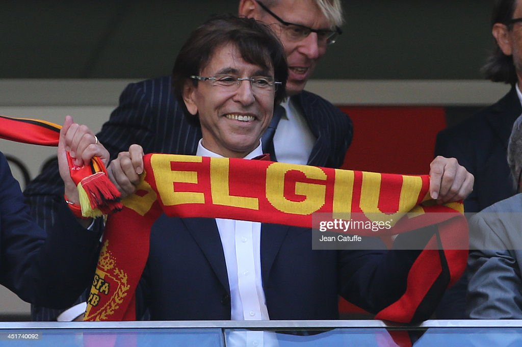 Belgian Prime Minister <a gi-track='captionPersonalityLinkClicked' href=/galleries/search?phrase=Elio+Di+Rupo&family=editorial&specificpeople=743705 ng-click='$event.stopPropagation()'>Elio Di Rupo</a> attends the 2014 FIFA World Cup Brazil Quarter Final match between Argentina and Belgium at Estadio Nacional on July 5, 2014 in Brasilia, Brazil.