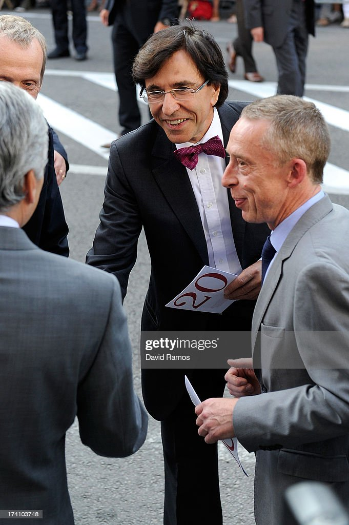 Belgian Prime Minister Elio Di Rupo attends the concert held ahead of Belgium abdication & coronation on July 20, 2013 in Brussels, Belgium.