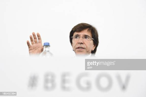 Belgian Prime Minister Elio Di Rupo gives a press conference following a cabinet meeting in Brussels on September 13 2013 Prime Minister came back...