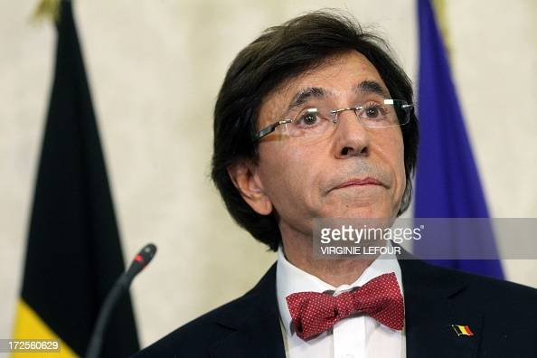 Belgian Prime Minister Elio Di Rupo gives a press conference after a Kern meeting a restricted ministers meeting at the Prime Minister's office in...