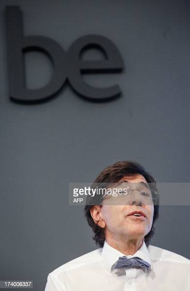 Belgian Prime Minister Elio Di Rupo gives a press conference after a ministers' meeting at the Prime Minister's office 16 Law Street in Brussels on...