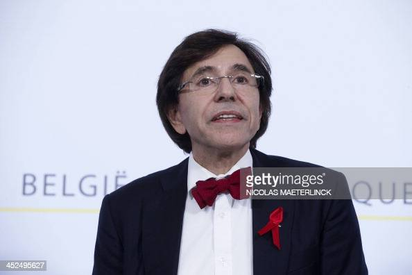 Belgian Prime Minister Elio Di Rupo gives a press conference on November 29 2013 in Brussels after a meeting of the consultative committee with...