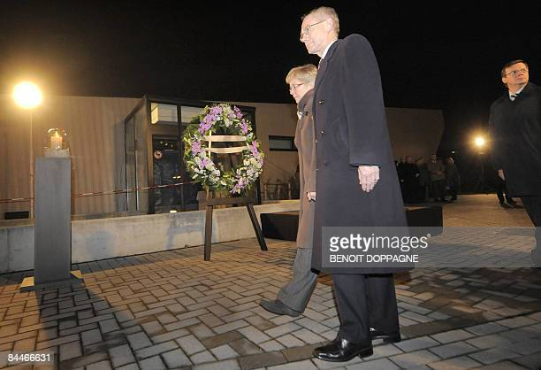 Belgian Prime Minister Herman Van Rompuy and VicePrime Minister Guido De Padt attend a commemoration for victims of knife attack at a Belgian creche...