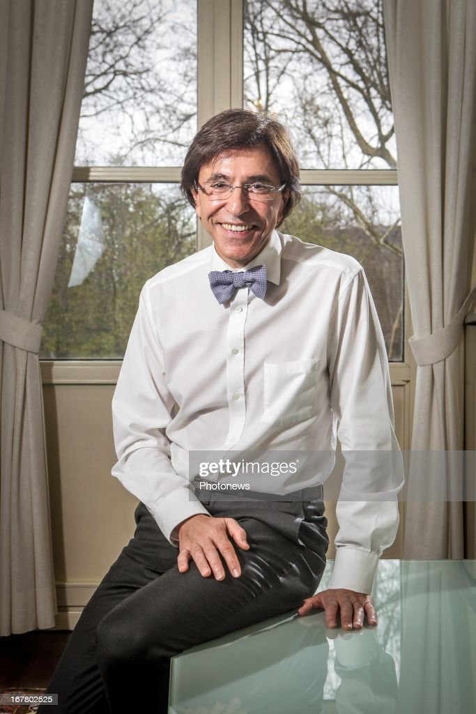 Belgian Prime Minster Elio Di Rupo poses during an interview on April 23, 2013 in Brussels, Belgium.