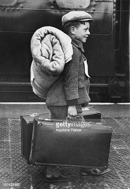 Belgian Refugee Arriving At North Wembley Station In London On May 10Th 1940