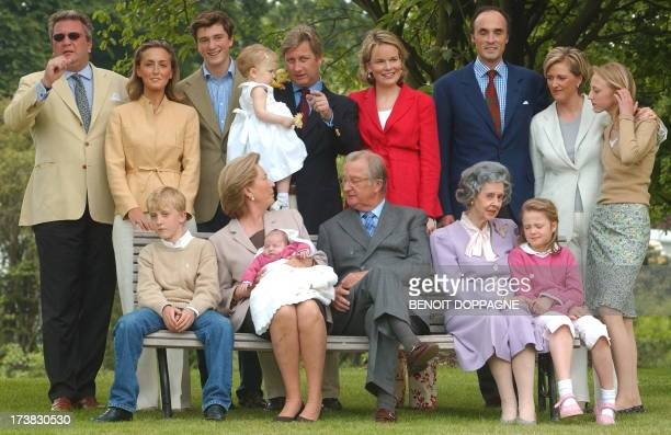 Belgian Royal Family poses for a family portrait in the garden of the Royal Palace of Laeken/Laken Brussels Wednesday 28 May 2003 Prince Joachim...