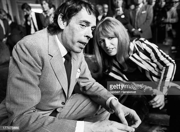 Belgian singersongwriter and actor Jacques Brel Baarn Netherlands 1972