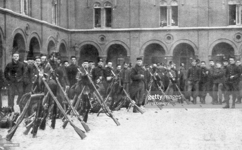 Belgian soldiers of the 9th Mixed Brigade Battle of Liege Belgium 516 August 1914 After the Germans invaded Belgium on 4 August 1914 the Belgians...
