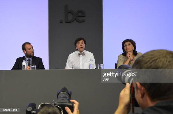 Belgian State Secretary for Energy Mobility Environment and State Reform Melchior Wathelet Belgian Prime Minister Elio Di Rupo and VicePrime Minister...