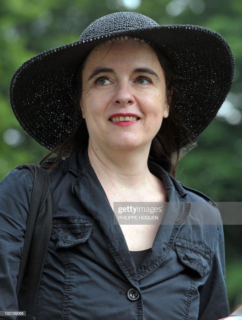 Belgian writer Amelie Nothomb attends the 12th Literature Festival 'Par Monts Et Par Mots' on June 6, 2010 in Saint-Jans-Cappel, northern France.