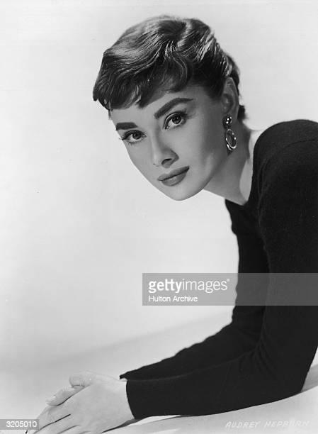 Belgianborn actress Audrey Hepburn in a promotional portrait for director Billy Wilder's film 'Sabrina'