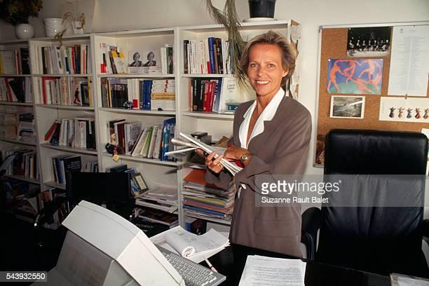 Belgianborn French Journalist and Television Host Christine Ockrent