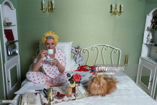 Belgianborn Singer and Actress Annie Cordy at Home