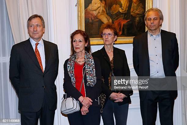 Belgium Ambassador to France Vincent Mertens de Wilmars Fanny Rodwell Bernadette Reynders and husband of Fanny Managing director of the company...