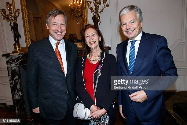 Belgium Ambassador to France Vincent Mertens de Wilmars Fanny Rodwell and Belgian Minister of Foreign Affairs and Deputy Prime Minister of Belgium...