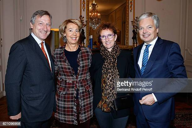 Belgium Ambassador to France Vincent Mertens de Wilmars his wife MarieJoelle Belgian Minister of Foreign Affairs and Deputy Prime Minister of Belgium...