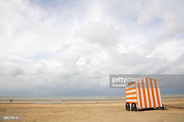 Belgium, Beach with cloudy sky