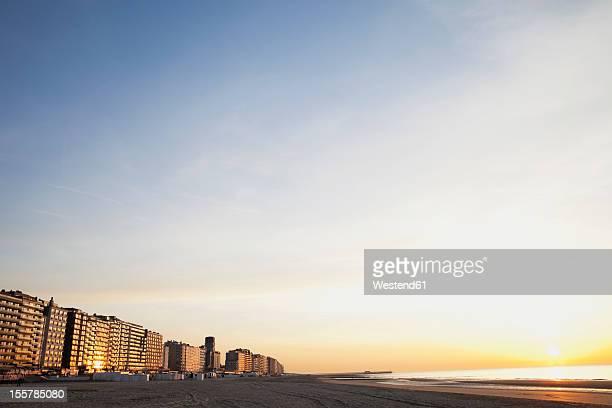 Belgium, Blankenberge, View of high rise at North Sea