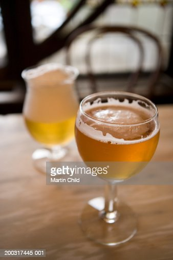 Belgium, Brussels, glass of beer, close up