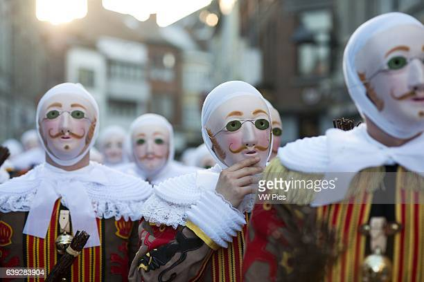 Belgium carnaval of Binche UNESCO World Heritage Parade Festival Belgium Walloon Municipality province of Hainaut village of Binche The carnival of...