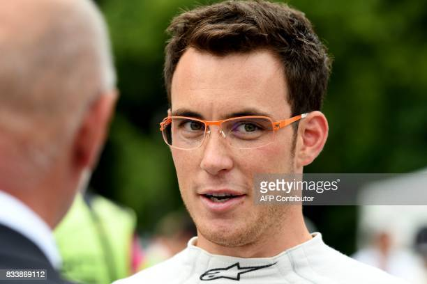 Belgium driver Thierry Neuville attends the official start of the Rally of Germany in Saarbruecken Germany on August 17 2017 / AFP PHOTO / PATRIK...