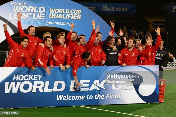 Belgium during day 9 of the FIH Hockey World League Men's Semi Finals at Wits University on July 23 2017 in Johannesburg South Africa