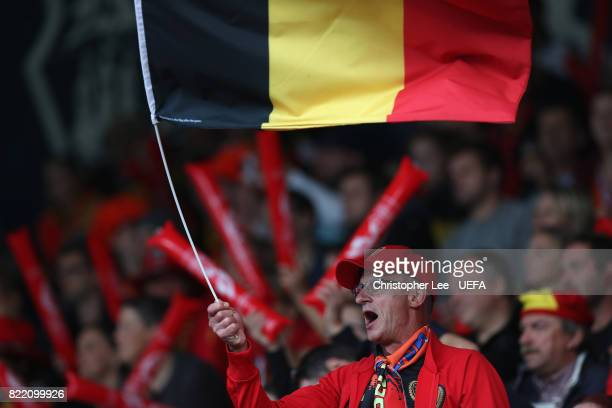 Belgium fan during the UEFA Women's Euro 2017 Group A match between Belgium and Netherlands at Koning Willem II Stadium on July 24 2017 in Tilburg...